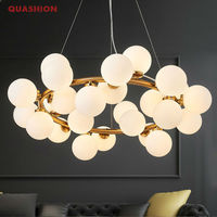 Magic Bean Modern LED Pendant Chandelier Lights For Living Room Dining Room G4 Gold Black White