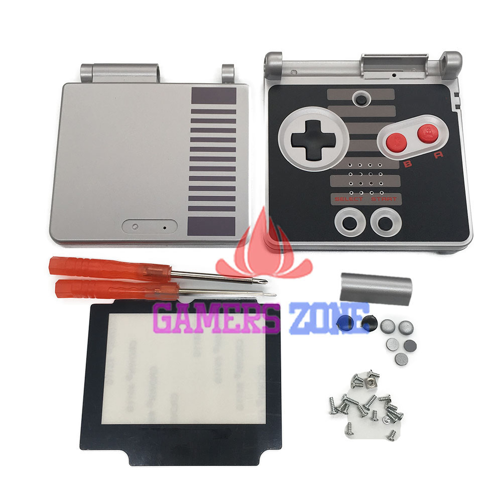 For GameBoy Advance SP Classic NES Limited Edition Replacement Housing Shell Screen Lens For GBA SP Housing Case Cover [100set 200pcs] brand new rotating shaft hinge axle part for gba sp gameboy advance sp game console replacement