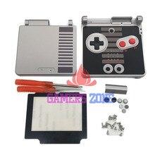 สำหรับ GameBoy Advance SP NES Classic Limited Edition เปลี่ยนเปลือกหน้าจอเลนส์สำหรับ GBA SP ฝาครอบ