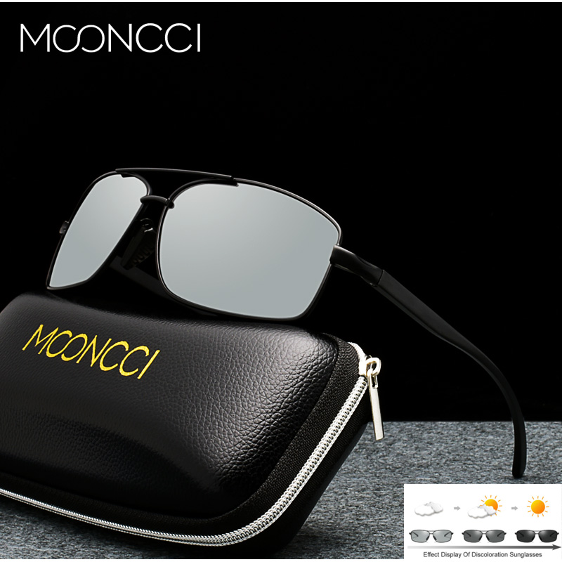 Image 2 - MOONCCI Photochromic Sunglasses Men Polarized Aluminum Chameleon Glasses HD Driving Shades Sun Glasses Male oculos gafas lentes-in Men's Sunglasses from Apparel Accessories on AliExpress