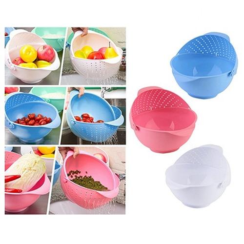 Multi-function Plastic Kitchen Drain Basket Strainer Fruit Vegetable Rice Sieve
