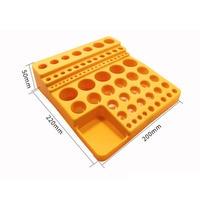 1set plastic case ingathering box collet drill bit inserts carbide endmill storage box for CNC machine parts collecting