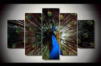 2016 Time Limited Sale Cuadros Fallout Unframed Peacock 5 Piece Painting Wall Art Children S Room