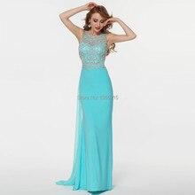 Fashion Design Elegante Perlen Crystle Prom Kleider 2016 Formale Abendkleid Nach Maß