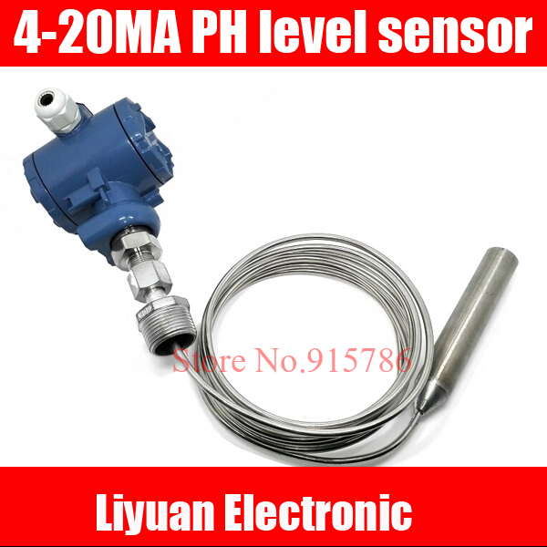 Stainless steel tape armored input level transmitter 4 20MA pH level sensor 100 300C high temperature