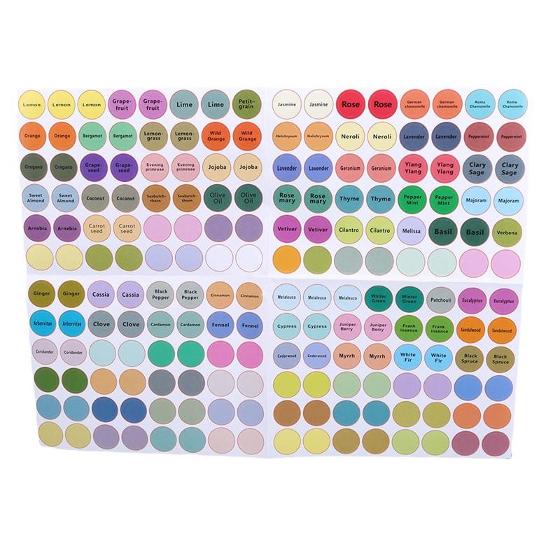 1 Piece 2020 New Hot Sale Label Round Label Sticker  Bottle Cute Heigh Quality Convenient Decal Label Essential Oil Bottle