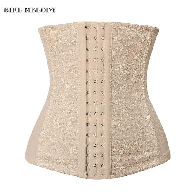 2016 Sexy Waist Shaper Corsets Steel Bone Waist Trimmer Belt Bustier For Women Lace Corset Underbust Slimming Body Shaper