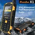 100% original runbo x1 fuerza ip68 resistente a prueba de choques impermeable del teléfono 1750 mah 2.0mp uhf walkie talkie ptt, ZUG S H1