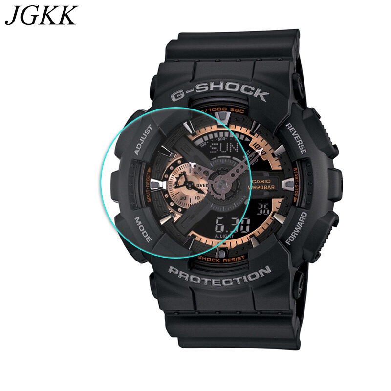 JGKK Tempered Glass For Casio TR770 TR750 TR80 PRW-6000 Screen Protector For Casio G-shock G100 GA110100 Watch Protective Film