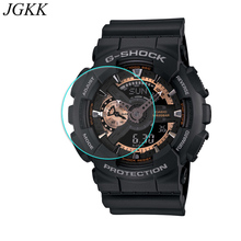 JGKK Tempered Glass For Casio TR770 TR750 TR80 PRW-6000 Screen Protector G-shock G100 GA110100 Watch Protective Film