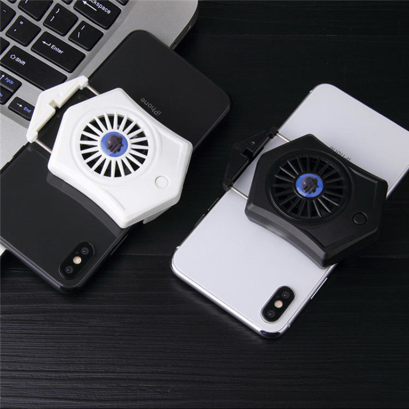 Mobile Phone Cooling Pad Gamepad Cooler Fan Holder Game Gaming Shooter Mute Radiator Controller Heat Sink Universal Port