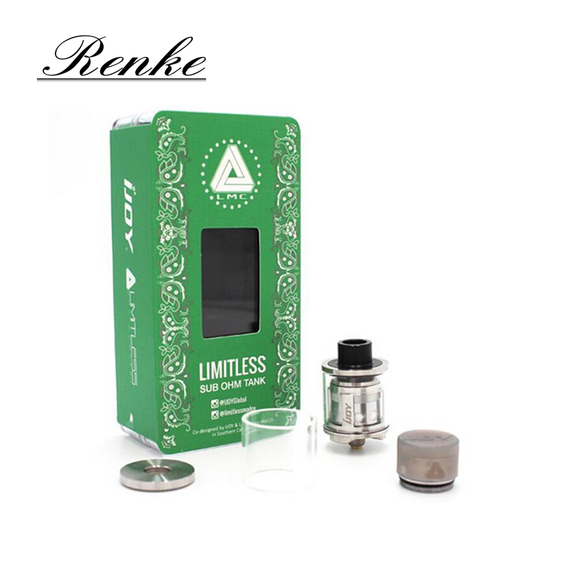 Original IJOY Limitless SUB OHM Tank 2ml LMC SUB OHM Tank Top Filling Design Innovative Light-up chip Coil Atomizer