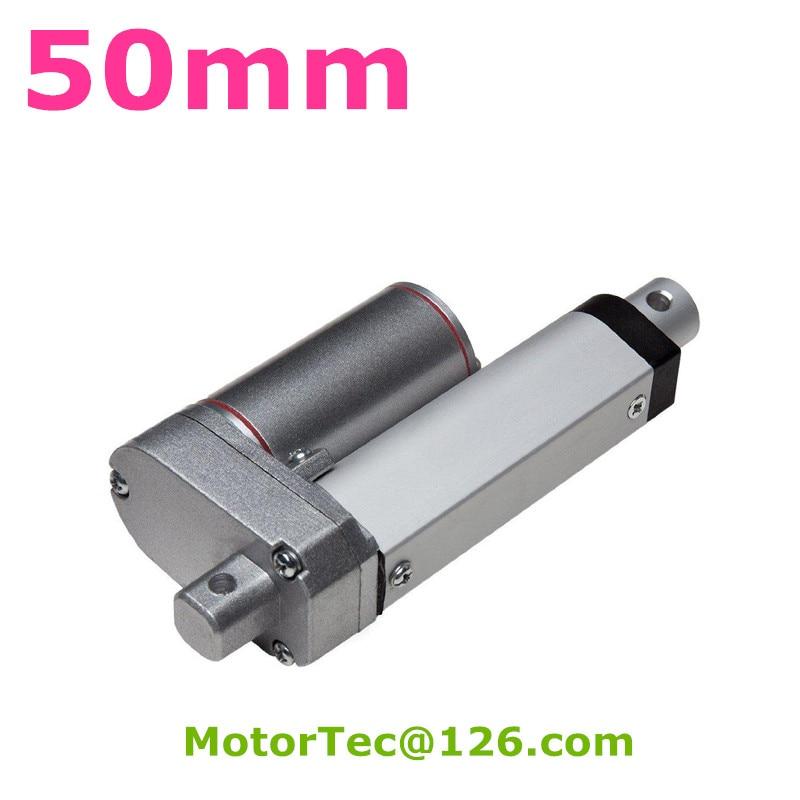 цена на New 50mm stroke 100mm/s speed 1500N 150KG load capacity heavy duty 12V 24V DC linear actuator