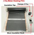 2 metri quadrati di riscaldamento a raggi infrarossi pellicola 50 cm * 4 m con accessori morsetti (clip) e isolante daub e nero rubinetto
