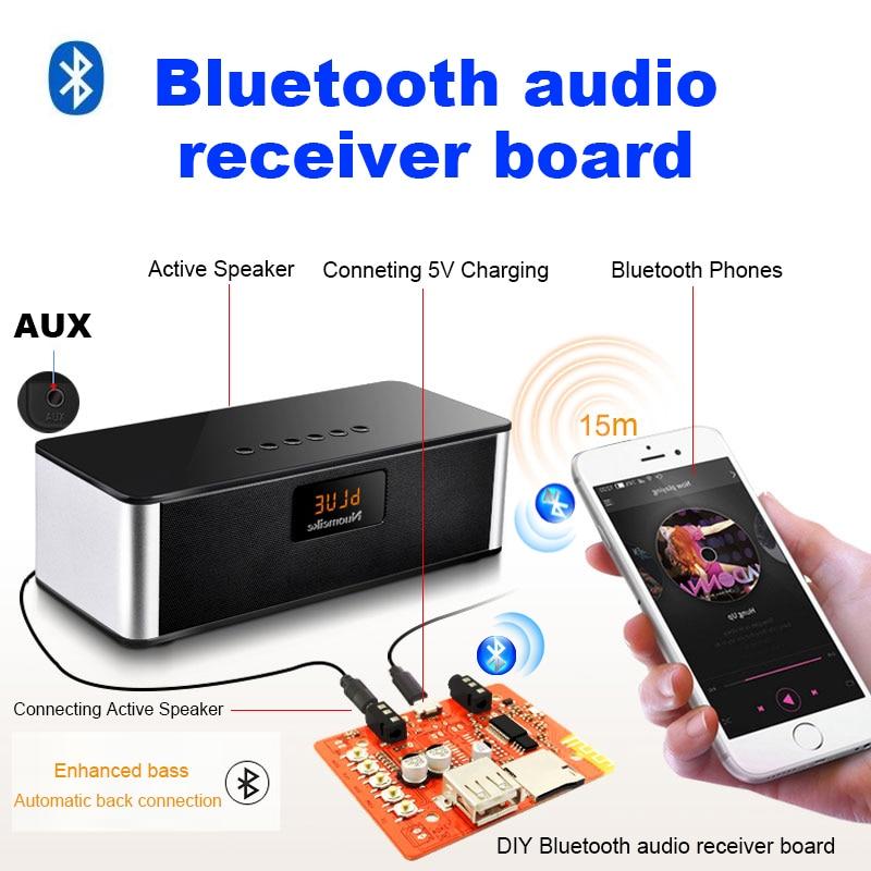 Usb inalámbrico bluetooth audio junta receptor de música mp3 ordenador subwoofer