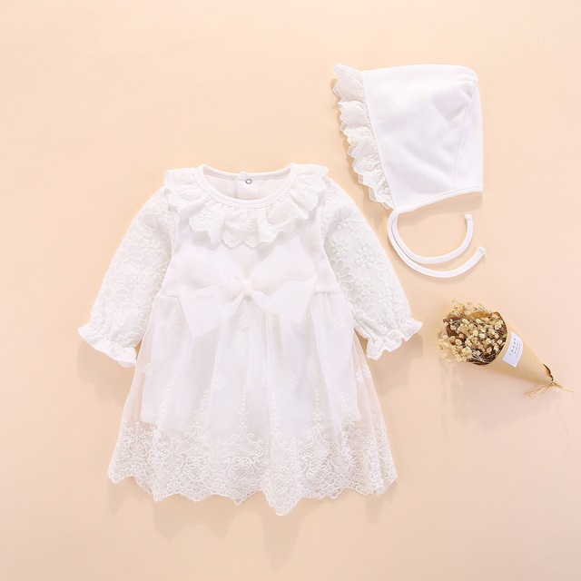 New born baby dress clothes1st Birthday Princess Dresses Infantil Beautiful Christening Gowns Baby Girl Baptism Dresses autumn