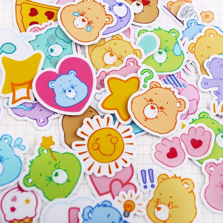 40pcs/bag Bear Avatar Lovely Style Album Scrapbook Waterproof Decoration Stickers DIY Handmade Gift Scrapbooking Stickers