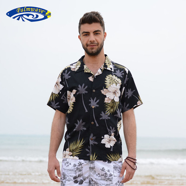 a69805b13c4 2018 Summer Travel Holiday Men Short Sleeves Floral Printed Shirts Cotton  Plus Size Loose Casual Shirts Hawaii Shirt Tops D087
