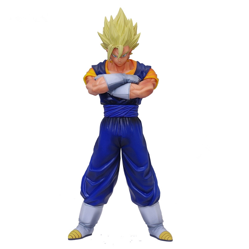 Us 19 5 35 Off New Dragon Ball Z Msp Saiyan Gogeta Molded Figure Japan Cartoon Sculptures Collectible Mascot Kid Toys 190mm In Action Toy Figures