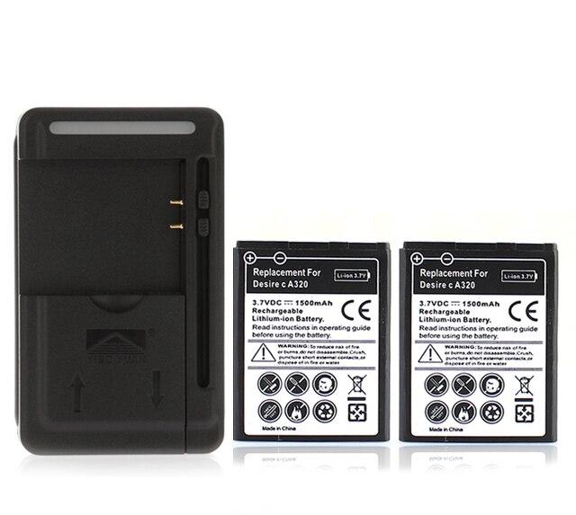 for htc desire c a320 g26 phone 2x 1500mah battery usb wall rh aliexpress com HTC Beats Audio Phone Case HTC Diser 5