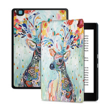 BOZHUORUI Smart Case for 2016 Kobo Aura Edition 2 E-reader Cover with Auto Wake/Sleep Ultrathin Fashion Painted Protective Cover case for 2016 new kobo aura one 7 8 ereader silk grain protective skin case smart cover screen protector film stylus