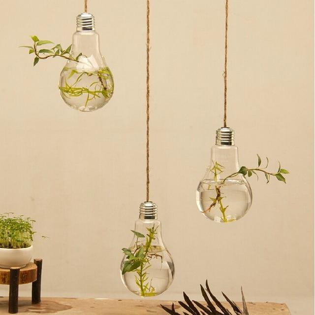 Hanging Glass Vase Lamp Bulb Vases Multi Meat Plant European Glass