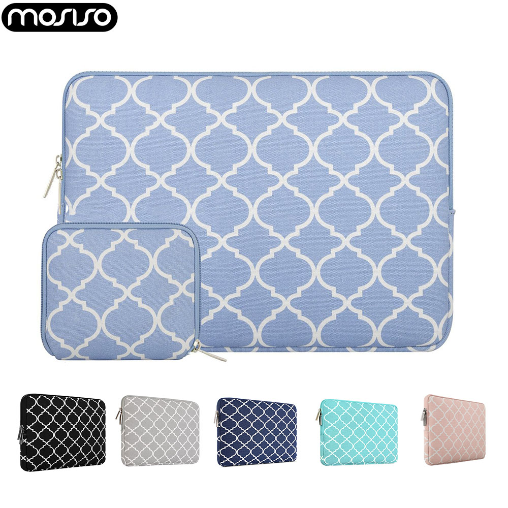 MOSISO Laptop Canvas Sleeve Bag 11 12 13.3 14 15.6 Inch For Macbook Air 13 A1932 Pro 13 Touch Bar A2159 Notebook Cover Case 2019