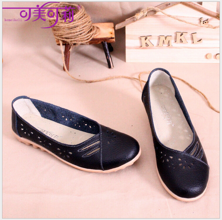 Spring summer Genuine leather women flats shoes female casual flat shoes women loafers shoes slips soft leather nurse shoes leather shoes handmade shoes spring and summer new style soft genuine leather flats shoes shoes for pregnant women flats