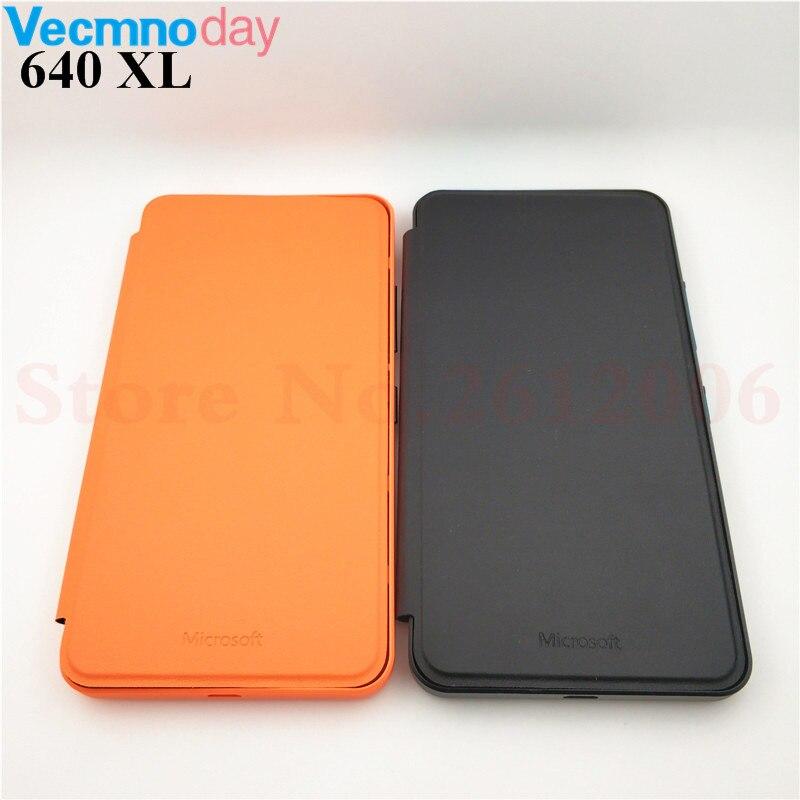 Couvercle De la batterie Pour Nokia Microsoft Lumia 640 XL Flip Shell PU En Cuir Porte Cas Pour Nokia Lumia 640XL