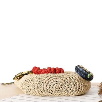 Summer Women Rattan Tiger Straw Bags Tote Large Ladies Beach Handbag Wicker Travel Flower Crochet Shopping Bag Bolso Paja W3 3