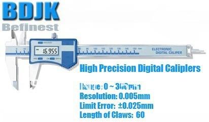 0~300mm High Precision Digital Vernier Caliper / Measuring Tool / Instrument with 0.025mm Limit Error 0 300mm high precision digital vernier caliper measuring tool instrument with 0 025mm limit error