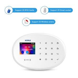 Image 3 - Kerui ao ar livre solar flash alarme wi fi câmera gsm sistema de alarme segurança suíte sistema de controle de aplicação em casa sem fio