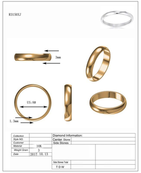 9K Yellow Gold Ring Sizing