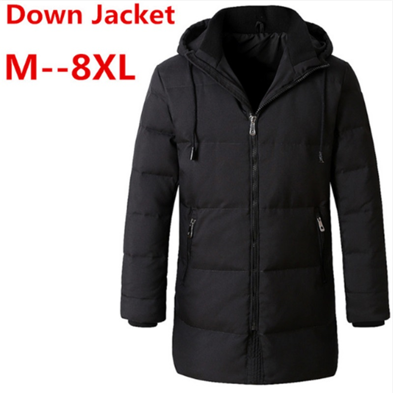 2017 8XL 6XL winter High Quality 90% White Duck Down Jacket men coat Snow wellestern parkas male Warm Brand Clothing Down Jacket