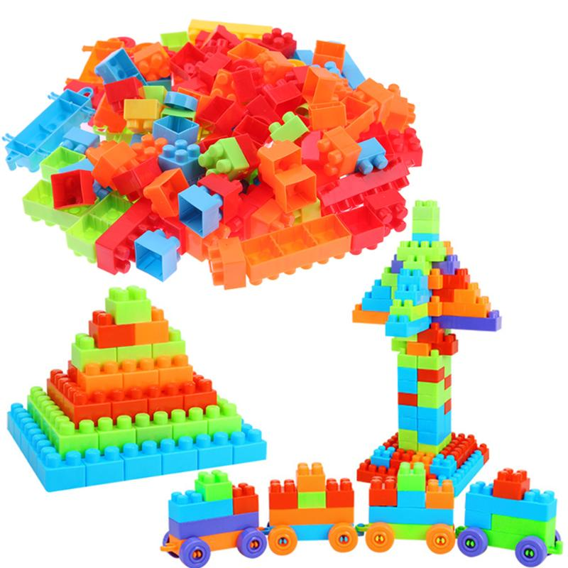132pcs Building Blocks Brick Kids DIY Assembly Model Educational Learning Gifts Plastic Building Block Toy