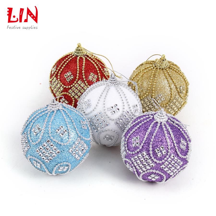 Christmas 8 cm stuck drill beads luxurious foam ornaments ...