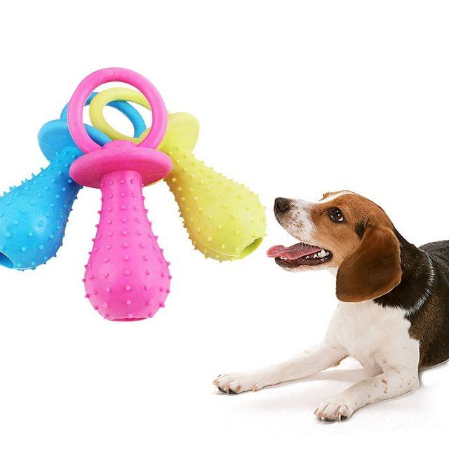 Urijk 1 pz Cucciolo Animali Giocattolo per Cani di Piccola Taglia di Gomma Resis