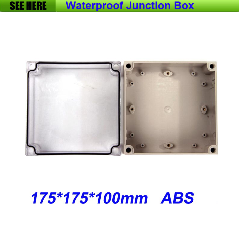 все цены на Free Shipping Good Quality ABS Material Transparent Cover IP66 waterproof box wall mount 175*175*100mm