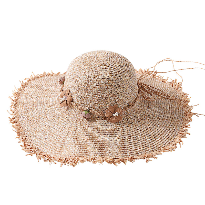 Female Summer Seaside Big Brim Beach Straw Hat Stylish