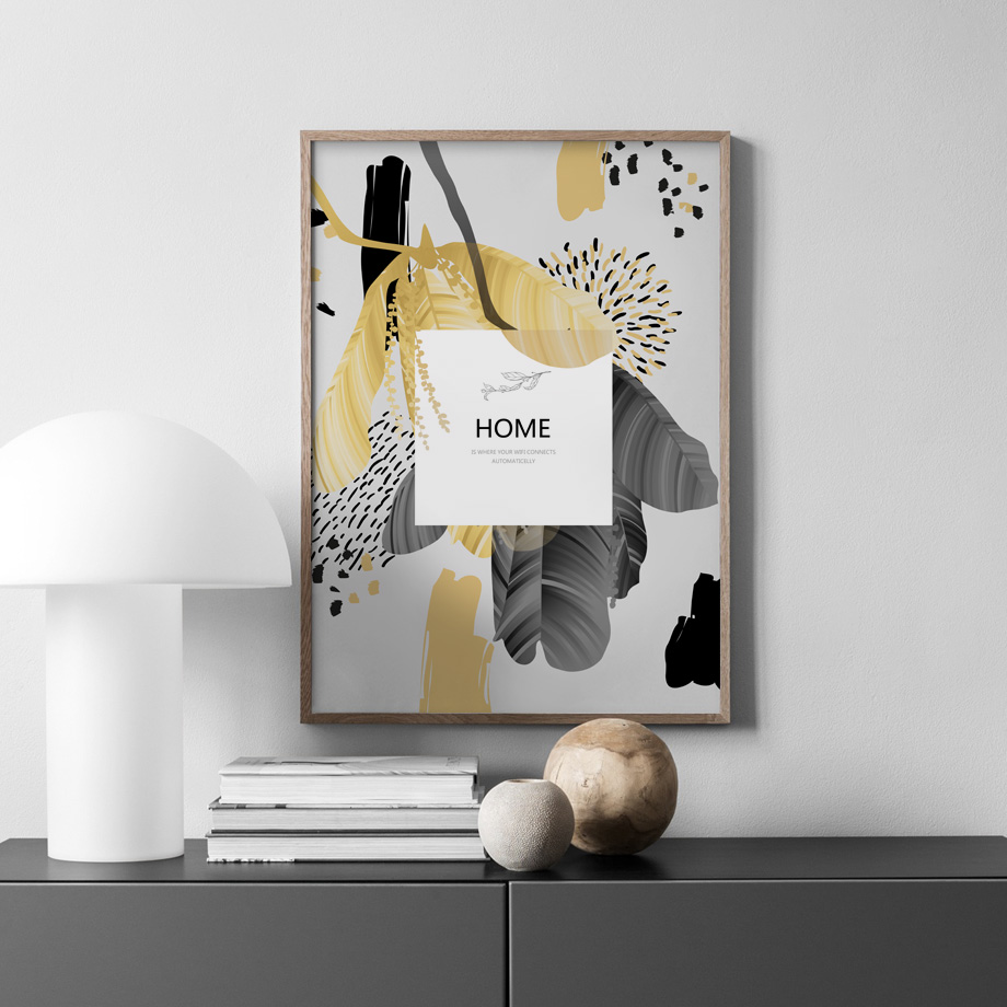 Abstract Banana Leaf Quote Wall Art Nordic Posters And Prints Canvas Painting Vintage Poster Wall Pictures For Living Room Decor in Painting Calligraphy from Home Garden