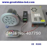 Ücretsiz kargo kuzey amerika 10 adet/grup kablosuz dmx cntroler 4 teller rgb dmx 12X3 W led tavan ışık DC 24 V|dmx wireless|light ceiling lightdmx led -