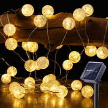 Водонепроницаемые гирлянды на солнечной энергии, наружные солнечные лампы, Сказочная лампада, Солнечная Рождественская вечеринка, украшение сада, гирлянда, полосы света