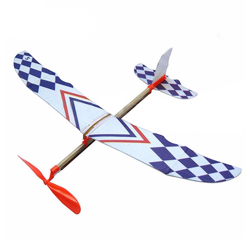Airplane Model DIY Materials Assembly Of Aircraft Innovative Foam Elastic Rubber Band Powered Plane Model Toys