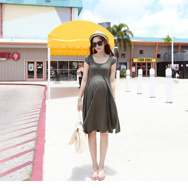 New Maternity Casual Dresses 2016 Fashion Clothes for Pregnant Women Plus Size Summer Women Dress Pregnancy Clothing Vestidos