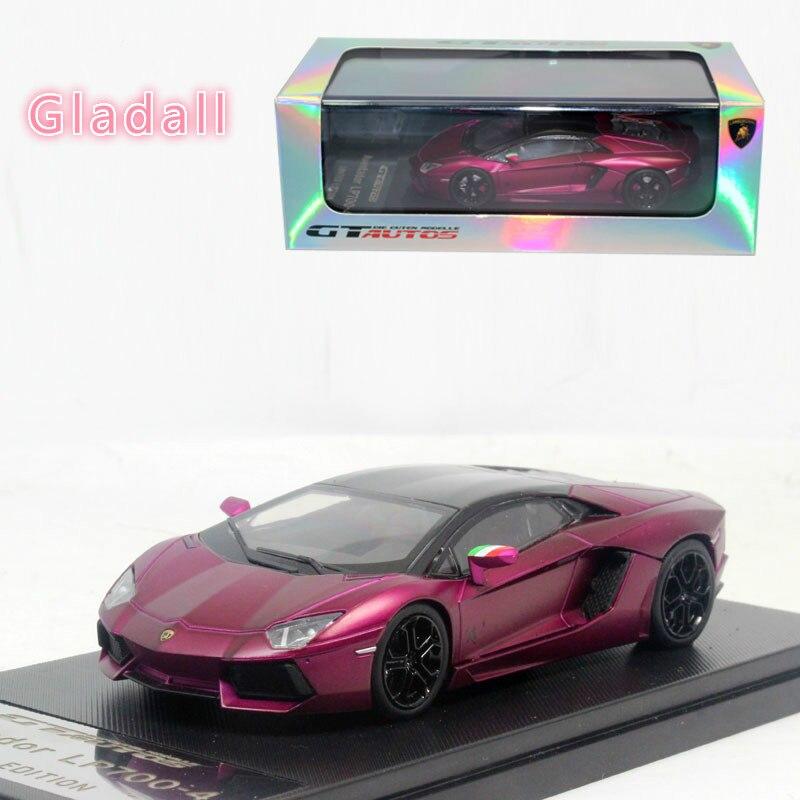Hoge Kwaliteit Luxe Speelgoed Welly Mini Collectie gegoten Automodellen 1:43 GTA Rambo LP700 4 Racing auto Verjaardagscadeau Paars/roze-in Diecast & Speelgoed auto´s van Speelgoed & Hobbies op  Groep 1