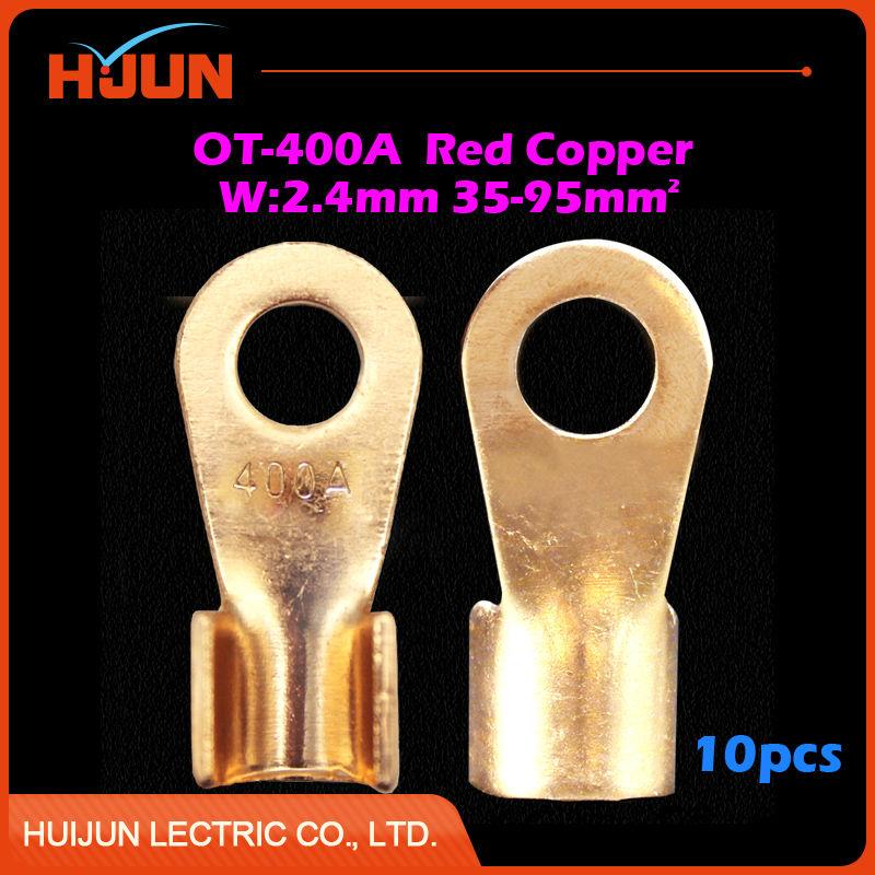 10pcs/lot OT 80A 8.2mm Dia Red Copper Circular Splice