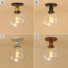 Lámpara LED de techo de hierro vintage para Loft E27, lámparas de techo, luminarias modernas, luminarias plafonnier para sala de estar y baño