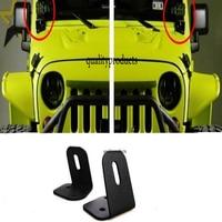 2Pcs Off Road Car Light Auto Spotlight A Pillar Mounting Bracket Holder Base Steel For Jeep