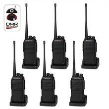 6PCS Radioddity GA-2S Tvåvägs Radio UHF 400-470MHz 16 CH Uppladdningsbar VOX Walkie Talkies USB Laddare + Hörlurar + Programmeringskabel