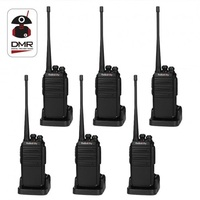 6PCS Radioddity GA 2S Two Way Radio UHF 400 470MHz 16 CH Rechargeable VOX Walkie Talkies USB Charger+Earpiece+Programming Cable